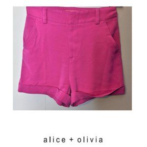 Alice + Olivia | Pink cuffed shorts